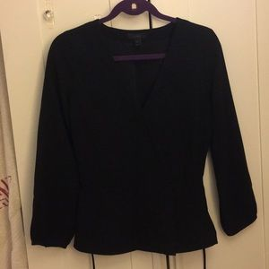 J. Crew Black Wrap Shirt